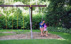 swingin' sisters (Ange 29) Tags: canada sisters backyard king olympus swing m zuiko township omd em1 1240mm