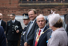 "Stephen Mosley MP joins the crowds welcoming the Earl & Countess of Chester to the city • <a style=""font-size:0.8em;"" href=""http://www.flickr.com/photos/51035458@N07/15032759678/"" target=""_blank"">View on Flickr</a>"