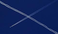 Saltire drama... (2c..) Tags: blue sky scotland contrail graphic © jet trail 2c videograb 5dmk2