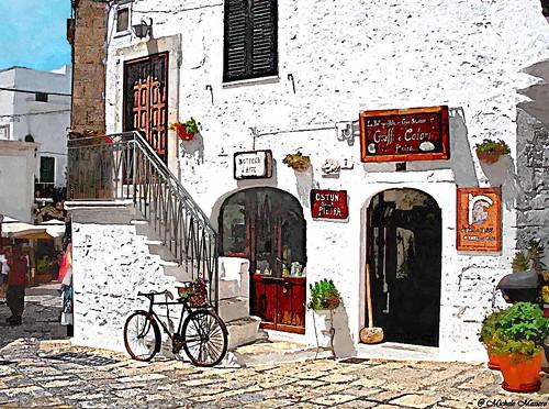 italy painterly puglia centrostorico ostuni lacittàbianca... (Photo: michele masiero on Flickr)