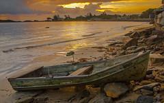 Sunrise..San Demetrio, Vega Baja, Puerto Rico (Louis O'Halloran) Tags: sky color beach sunrise boat puertorico tranquility playa colores tranquilidad amanacer vegabaja sandemetrio