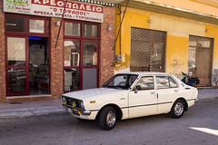 Toyota Corolla (Suffolk Makam) Tags: old headlights toyota corolla