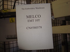 Melco EMT 10T (Embroidery Warehouse) Tags: emt melco 10t tewh theembroiderywarehouse theembroiderywarehouseinc melcoemt10t