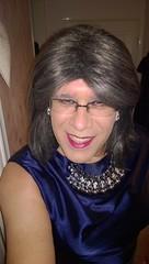 """Sometimes it's just lovely to """"glam up"""" (rachel_uk2004) Tags: highheels crossdressing dresses transvestite satin crossdresser"""