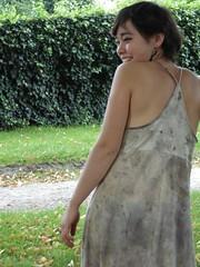 Robe tshirt ecoprint