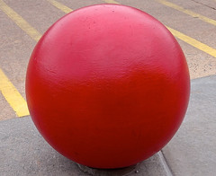 target (Dean Hochman) Tags: target red deanhochman ball weight solid heavy planet lifting pounds concrete