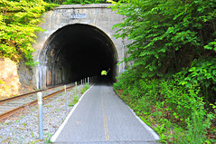Brush Tunnel (Throwingbull) Tags: railroad tourism bike bicycle train md track path great scenic tracks gap bikes maryland tunnel brush bicycles trail transportation biking western passage allegheny pathway