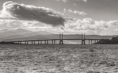 Kessock Bridge, Inverness, Scotland (Michael Leek Photography) Tags: bridge architecture scotland inverness michaelleek blackandwhite sea morayfirth coast thisisscotland michaelleekphotography landscape scottishlandscapes scotlandslandscapes scottishcoastline scottishhighlands winter highlands invernessshire