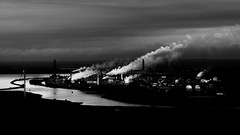 View from the Black Gate: Part 1 (2017-01-28) (snjscuba) Tags: uk england mersey runcorn cheshire chemical ici frodsham river industry industrial clouds fumes