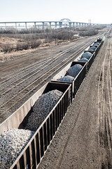 Rail Load, Duluth (Sharon Mollerus) Tags: railroad rocks train duluth minnesota unitedstates us cfpti17