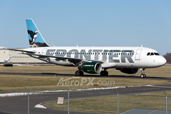 Frontier Airlines Airbus A320-214 - N218FR (AeroPX) Tags: aeropx airbusa320 caryliao ewing frontierairlines kttn n218fr nj newjersey paxtonthepuffin ttn trentonmercercountyairport