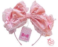 Dolly Pearl Headbow (callistamarie) Tags: blogger lolitablog blog angelicpretty ap lolita lolitafashion lolitabrand angelicprettyusa haul pearl sweetlolita headbow bow silk lace