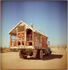 .life is so french toast to me (Herr Benini) Tags: 6x6 analog mediumformat film kiev88 salvationmountain bilble god jesus love treeoflife desert california usa van