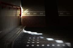 Play of light (DSC09186) (Pieter Berkhout) Tags: pieterberkhout haarlem stairs lichtval trap station trainstation backlight tegenlicht lichtdonker clairobscure lightfall lighting