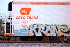 Krone (Chicago City Limits) Tags: freight train graffiti rails krone