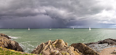 ... rain a comin' ... (jane64pics) Tags: sailing rain rainacoming stormy stormclouds boats boating sea seascape seafront seaside ocean clouds cloudy rocks rocky greystones wicklow cowicklow janefriel janefriel2017 greystonescameraclub panorama
