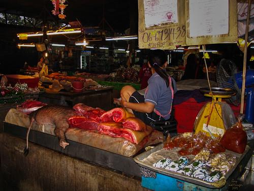 l'étal de la bouchère, Chiang Mai, Thaïlande