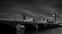 House of Parliament B&W (GDWilson1000) Tags: westminster bridge elizabeth tower house commons parliament bw le nik silver efex thames london lords