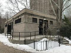 Saint Vartan Park (Jeffrey) Tags: saintvartanpark stvartan park snow restroom bathroom building buildings architecture bricks stalinist