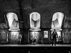 London underground (The Ultimate Photographer) Tags: london underground tube metro streetphotography bakerstreet bakerstreetstation blackandwhite blackwhite people photography urban uk landmark monument british england olympus em1 omd camera waiting oldperson