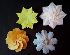 Octagonal Stars (modular.dodecahedron) Tags: tomokofuse origamistar oilpastels