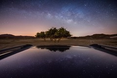 A Parallel Universe (samy olabi) Tags: ifttt 500px landscape travel sky tree desert milkyway milky way astronomy astrophotography uae rak nightscape long exposure stars mountains reflection