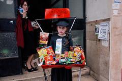 My little kiosk (amira_a) Tags: street streetphotography purim bneibrak kiosk girls costumes candid ricoh gr milk sweets