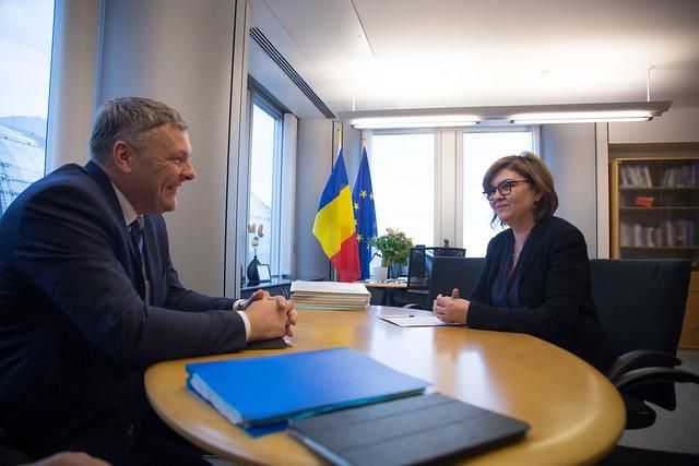Adina Valean meets Estonian Environment Minister