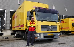 My first day on the truck! (XBXG) Tags: bvbr44 man dhl truck camion vrachtwagen vrachtauto véhicule poids lourd lastkraftwagen lkw lastwagen lastbil vervoer transport vehicle outdoor