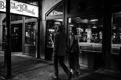 Together (FlotographyATX) Tags: 6thstreet austin blackwhite buffalobilliards couple cowboyhat downtown fuji life people street xpro2 night