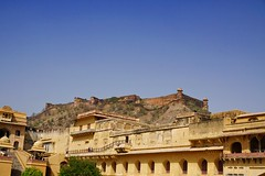 Amber fort Jaipur, in orange (PsJeremy - so behind, need to catch up) Tags: iconic historic fortress maharajahs palace palatial fort indiansummer india bollywood