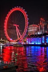 Mirror water (alessandrociacci1) Tags: canon water tamigi londoneye night city mirror london londra
