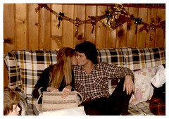 11/27/80 - Grandma and Grandpa's House: (mavra_chang) Tags: scanned momsphotograph family thanksgiving thanksgiving1980