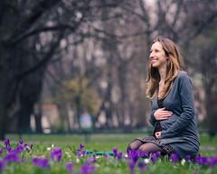 Jola (creyala) Tags: friend mum mother futuremother pregnancy pregnant crocuses flowers spring shoot nice smile happy hello nikon d7000 nikond7000