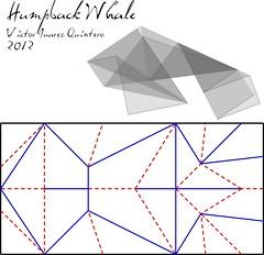 Humpback whale - CP (Vctor J. Quintero) Tags: origami whale papiroflexia ballena jorobada humpbak