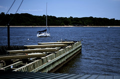 The Armory (irishbartender) Tags: summer sun water sailboat pier sand nikon warm nj perthamboy arthurkill d7000