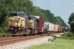 CSX Q602 Hilliard, FL (brickbuilder711) Tags: up train pacific florida miami ns hill union norfolk trains southern jacksonville coal bnsf crawford 318 callahan csx hilliard phosphate dyal 7779 n026 k802