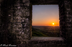 MAN-8787-2 (Mark-Newman) Tags: sunset window stone landscape countryside brighton view fields southdowns brickwork devilsdyke ironagefort