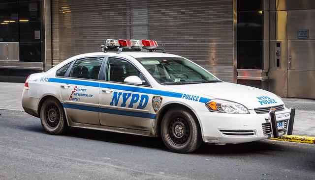 road street nyc ny newyork chevrolet car gm police nypd chevy impala spotting lightbar 3388 114pct