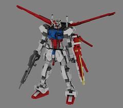 Lego Aile Strike Gundam (Mithryl_Dlarix) Tags: anime mobile digital star robot war suits lego designer render space military manga seed battle robots suit pack destiny strike gundam mecha mechs cad mech striker aile povray ldd gundams lddtopovray