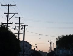 Nostalgia (ladyjaysfc) Tags: sanfrancisco morning sky sunrise shoes neighborhood nostalgia nostalgic missiondistrict 2470mm hangingshoes ladyjaysfc jamierodriguezphotography