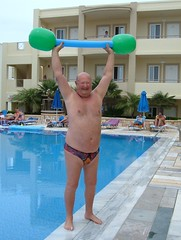 Strong Man Act (pj's memories) Tags: pool kos greece tingaki tanthru kiniki mythosaparthotel