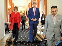 Secretary Kerry Walks With European Union High Representative Ashton Following Meeting in Brussels (U.S. Department of State) Tags: brussels belgium eu johnkerry europeanunion nato catherineashton