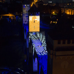 Pont Valentré - illuminations 2014 (-CyRiL-) Tags: france illuminations lot civil pont cahors patrimoine midipyrenees sudouest midipyrénées pontvalentré lotdepartment cyrilbkl departementdulot cyrilnovello grandssites grandsitedemidipyrénées espritlot