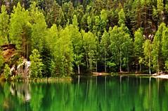 Silence ... (Eggii) Tags: lake green journey rockcity czechoslovakia město nikond90 skalní skalníměsto teplicenadmetuji eggii timeforthesilence