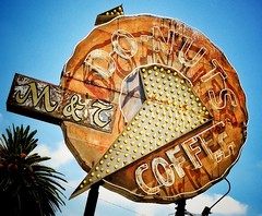 DONUTS . . . (mollyblock) Tags: california ca signs sign vintage losangeles rust neon compton rusty socal donuts donut signage americana rusting roadside southerncalifornia iphone vintagesign vintagesigns vintageneonsign donutshaped explored iphoneography mollyblock mtdonuts donutshopsign