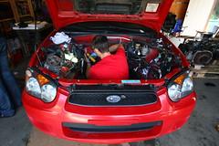 red wagon swap wrx sti v7 garageofidiots