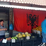 "Fruit Vendor + Albanian Flag <a style=""margin-left:10px; font-size:0.8em;"" href=""http://www.flickr.com/photos/14315427@N00/14683427449/"" target=""_blank"">@flickr</a>"