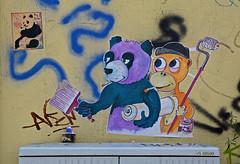HH-Wheatpaste 1925 (cmdpirx) Tags: street urban color colour pasteup art public wall cutout painting poster fun graffiti stencil nikon paint panda artist 7100 d space raum wand kunst strasse wheatpaste paste glue hamburg humor cement can spray crew drug hh piece aerosol kleber knstler wheatepaste schablone kleister ffentlicher