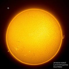 Sunny July 24 (TheDaveWalker) Tags: sun solar lint superstar starlightxpress